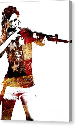 M1 Carbine And Bayonet Canvas Print
