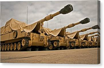 Artillery Canvas Print - M109a6 by Emma Brown