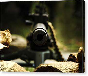 M1919 Browning Machine Gun Canvas Print by Steven  Digman
