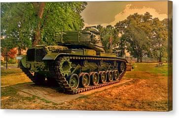 M60a3 Tank Canvas Print - M60a3 Main Battle Tank by Shelley Smith