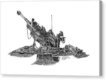 M777a1 Howitzer Canvas Print by Elizabeth Hackett