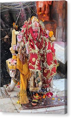 Ma Durga, Haridwar Canvas Print by Jennifer Mazzucco