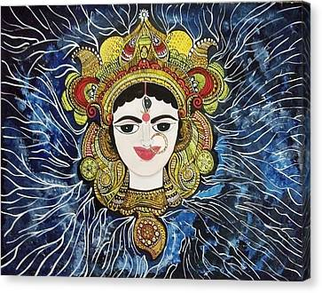 Maa Durga Canvas Print by Archana Jha