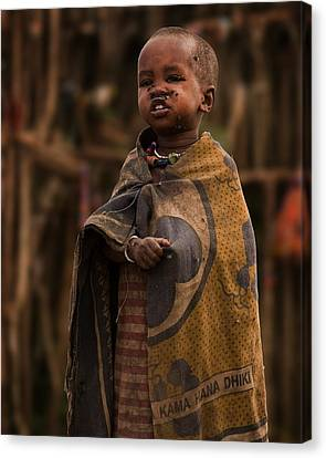 Maasai Boy Canvas Print by Adam Romanowicz