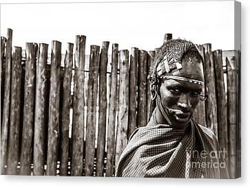 Maasai Man Ngorongoro Conservation Area Tanzania Canvas Print