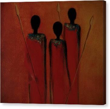 Maasai Trio  Canvas Print