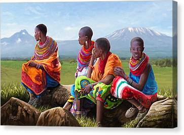 Maasai Women Canvas Print