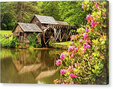 Mabry Mill Canvas Print by Rebecca Hiatt