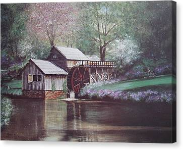 Grist Canvas Print - Mabry Mills by Charles Roy Smith