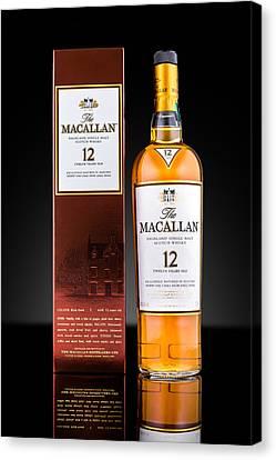 Macallan Single Malt Whisky Canvas Print by Mihai Andritoiu