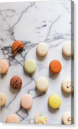 Macaron Pattern Canvas Print by Happy Home Artistry