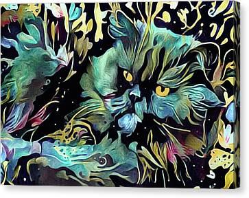 House Pet Canvas Print - Macavity by Susan Maxwell Schmidt