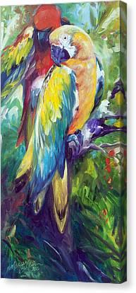 Canvas Print - Macaw Pair by Marcia Baldwin
