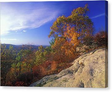 Macedonia Ridge Foliage Canvas Print by John Burk
