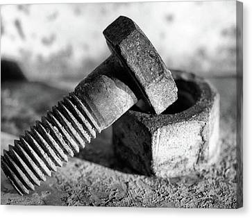 Canvas Print featuring the photograph machine bolt No.2 by Tom Druin