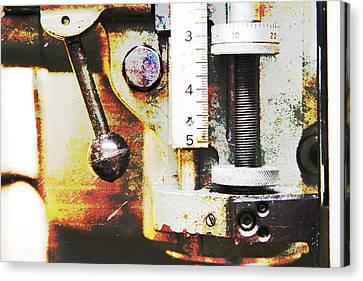 Machine Shop Grunge 10 Canvas Print by J Darrell Hutto