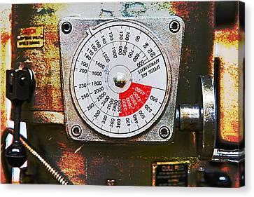 Machine Shop Grunge 12 Canvas Print by J Darrell Hutto