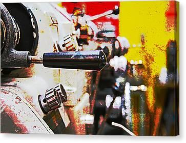Machine Shop Grunge 6 Canvas Print by J Darrell Hutto