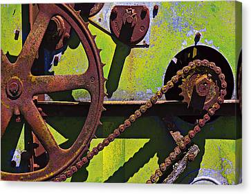 Component Canvas Print - Machinery Gears  by Garry Gay