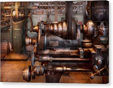 Machinist - Steampunk - 5 Speed Semi Automatic Canvas Print