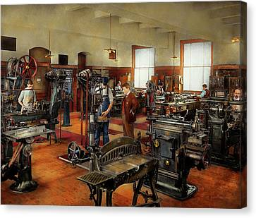 Tool Maker Canvas Print - Machinist - The Standard Way 1915 by Mike Savad