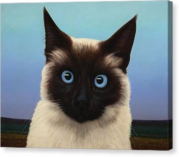 Chat Canvas Print - Machka 2001 by James W Johnson