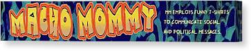 Macho Mommy Logo Canvas Print