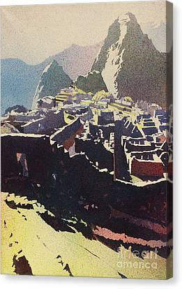 Machu Picchu Morning Canvas Print