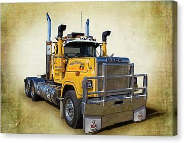 Mack Truck Canvas Print by Keith Hawley