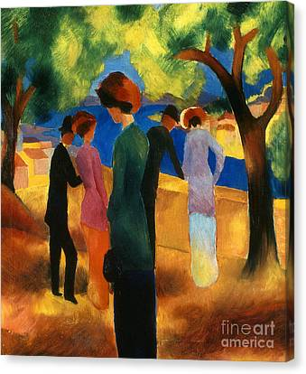 Macke: Green Jacket, 1913 Canvas Print by Granger
