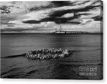 Mackinac Bridge - Infrared 03 Canvas Print