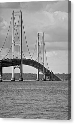 Mackinac Bridge 6111 Canvas Print by Michael Peychich