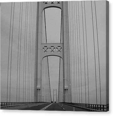Mackinac Bridge Canvas Print by Beverly Cazzell