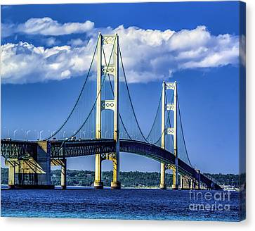 Mackinac Bridge Canvas Print by Nick Zelinsky