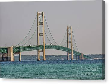Canvas Print featuring the photograph Mackinac Bridge by Sue Smith