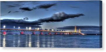 Mackinac Bridge   Canvas Print by Twenty Two North Photography