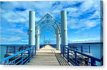 Mackinaw City Pier Canvas Print