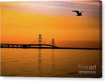 Mackinaw Sunset  Canvas Print