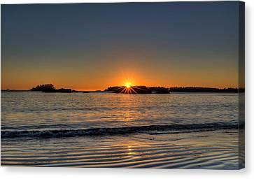 Vancouver Island Canvas Print - Mackinsie Beach Sun Burst by Mark Kiver