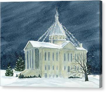 Macoupin County Illinois Courthouse Canvas Print by Denise   Hoff