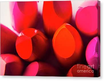 Pink Lipstick Canvas Print - Macro Cosmetic Art by Jorgo Photography - Wall Art Gallery