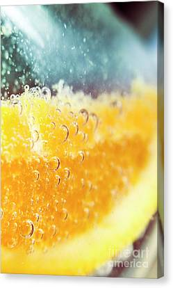 Macro Detail On A Club Orange Cocktail Canvas Print