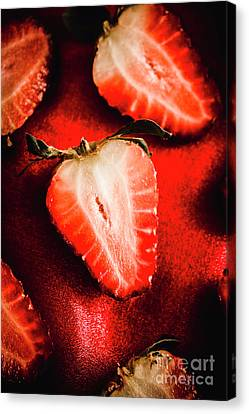 Macro Shot Of Ripe Strawberry Canvas Print by Jorgo Photography - Wall Art Gallery