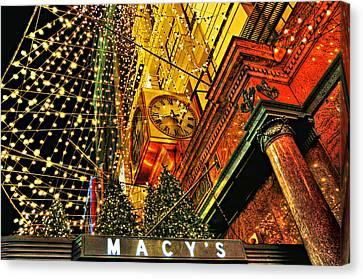 Macy's Christmas Lights Canvas Print by Randy Aveille