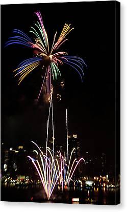 Macy's Fireworks I Canvas Print by David Hahn