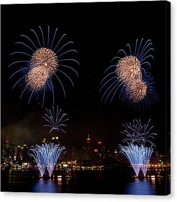 Macy's Fireworks IIi Canvas Print by David Hahn
