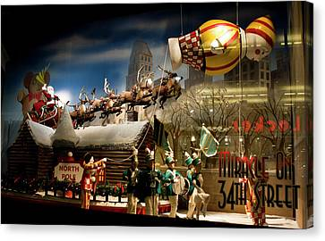 Macy's Miracle On 34th Street Christmas Window Canvas Print