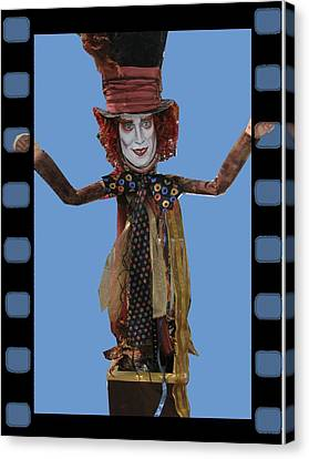 Mad As A Hatter Canvas Print by Cathi Doherty