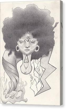 Mad Black Woman Canvas Print