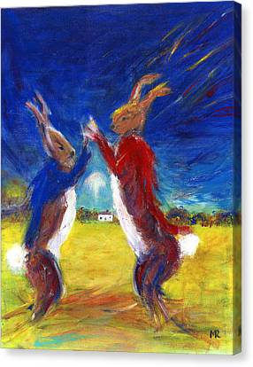 March Hare Canvas Print - Mad Hare March by Michelle Reeve